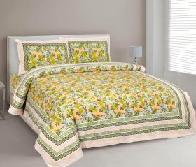 Double Bed King Sized Bed Cover with Two Pillow Covers