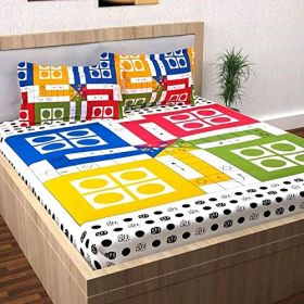 Pure Cotton Queen Size Double Bedsheet