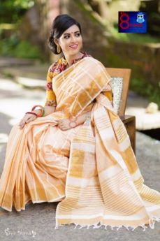 Khadi Cotton with Kantha stitch stripes all over