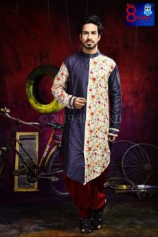 Silk Cotton Embroidered kurta