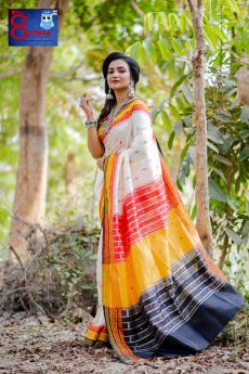 Sambalpuri Handloom Double Ikkat Silk Saree