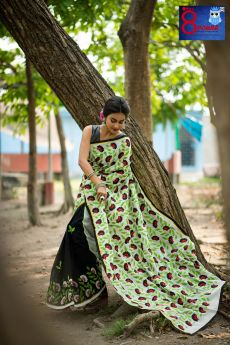 Handwoven Cotton with Intricate Applique and Embroidered Work