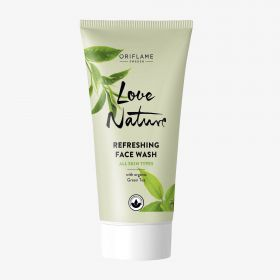 LOVE NATURE Refreshing Face Wash with Organic Green Tea