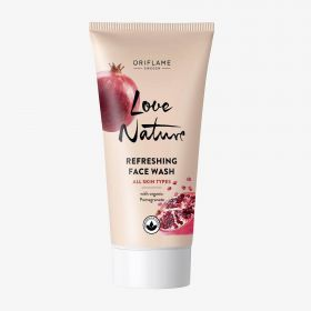 LOVE NATURE Refreshing Face Wash with Organic Pomegranate