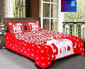 Queen Size Double Bed Sheet Pure Cotton