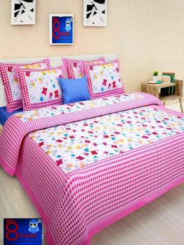 Queen Size Pure Cotton Double Bed Sheet