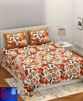 King Size Pure Cotton Premium Bed Sheet Double ( Super)