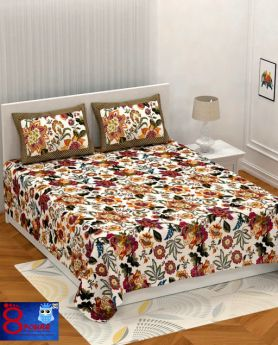 King Size Pure Double Cotton Premium Bed Sheet ( Premium )