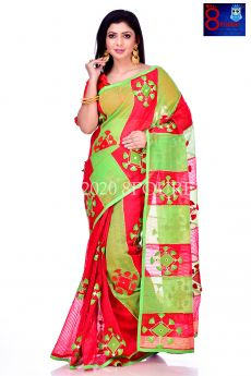 Resham Check Designer Saree