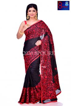 Parsi Thread Embroidery All Blended Bangalore Silk Saree