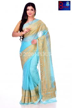 Resham Baluchori Embroidered Saree